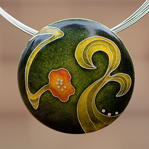 cloisonn pendant
