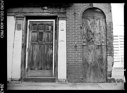 Boarded up in Baltimore, MD