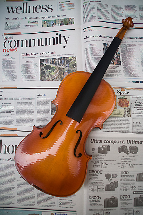 Violin before stripping