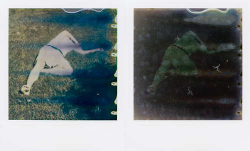 Five months of sitting in a sunlit window after taking photo on The Impossible Project's Fade to Black polaroid film