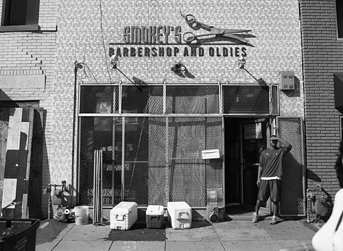 Smokey's Barbershop and Oldies in NE DC - Shot with the Mamiya m645 on Rollei Retro 80's 120 film