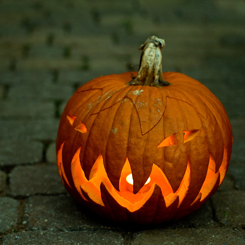 2010 jack o' lantern (what you can't see is the mouth goes all the way around the pumpkin)