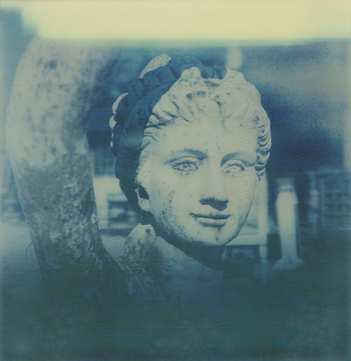 Antiques in Lucketts, VA - Shot with the Polaroid PX-70 on The Impossible Project's Color Shade film