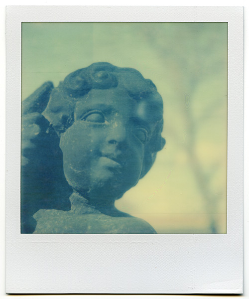 Antique in Lucketts, VA - Shot with the Polaroid PX-70 on The Impossible Project's Color Shade film
