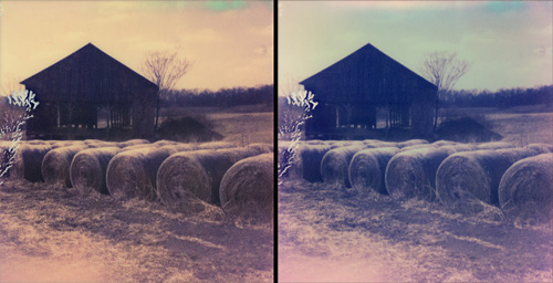 Rural Virginia - Shot with the Polaroid PX-70 on The Impossible Project's Color Shade PUSH! film