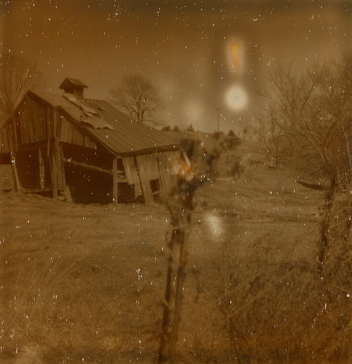 Rural Virginia - Shot with the Polaroid PX-70 on The Impossible Project's Silver Shade film