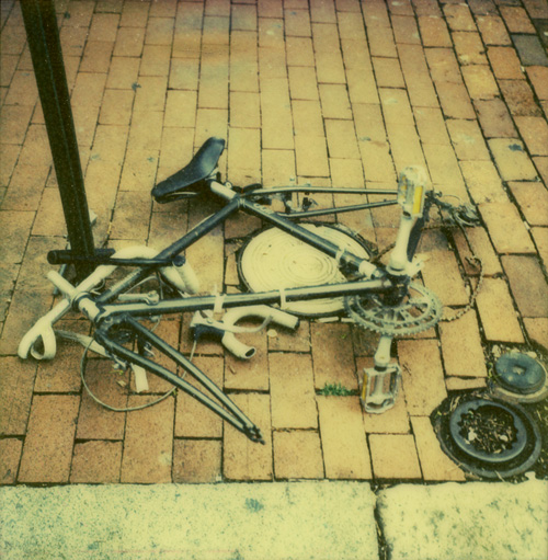 Bicycle in DC - Shot with the Polaroid PX-70 on The Impossible Project's PX 680 color test film