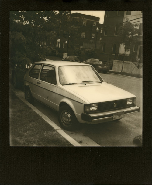 VW - Shot with the Polaroid PX-70 on The Impossible Project's PX 600 black frame poor pod silver shade film