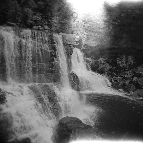 Blackwater Falls 9. - Shot with the Holga on Ilford FP4