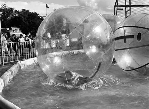Fallen in a bubble at the Arlington County Fair - Shot with the Mamiya m645 on Kodak 400 TMAX film