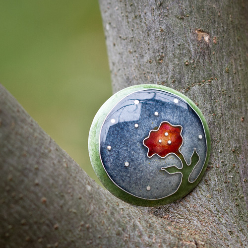 Commissioned cloisonné brooch