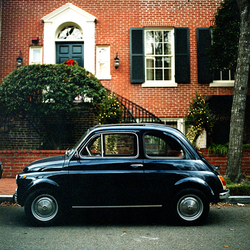 Old Fiat, Washington, DC - Shot with A Hasselblad 503CX on expired Agfa Optima 100 35mm film