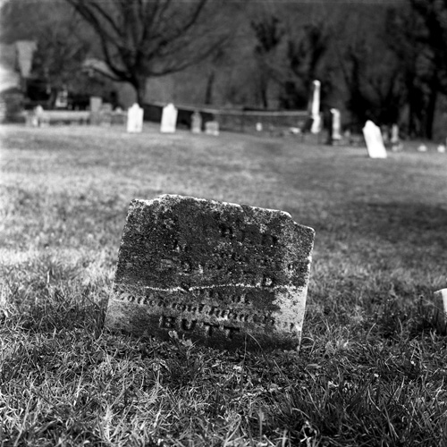 Hee hee . . . BUTT . . . Harper's Cemetery, Harper's Ferry, WVA - Shot with the Yashica Mat 124G on Kodak 400 TMAX film