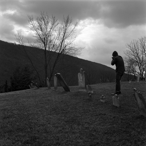 Harper's Cemetery, Harper's Ferry, WVA - Shot with the Yashica Mat 124G on Kodak 400 TMAX film