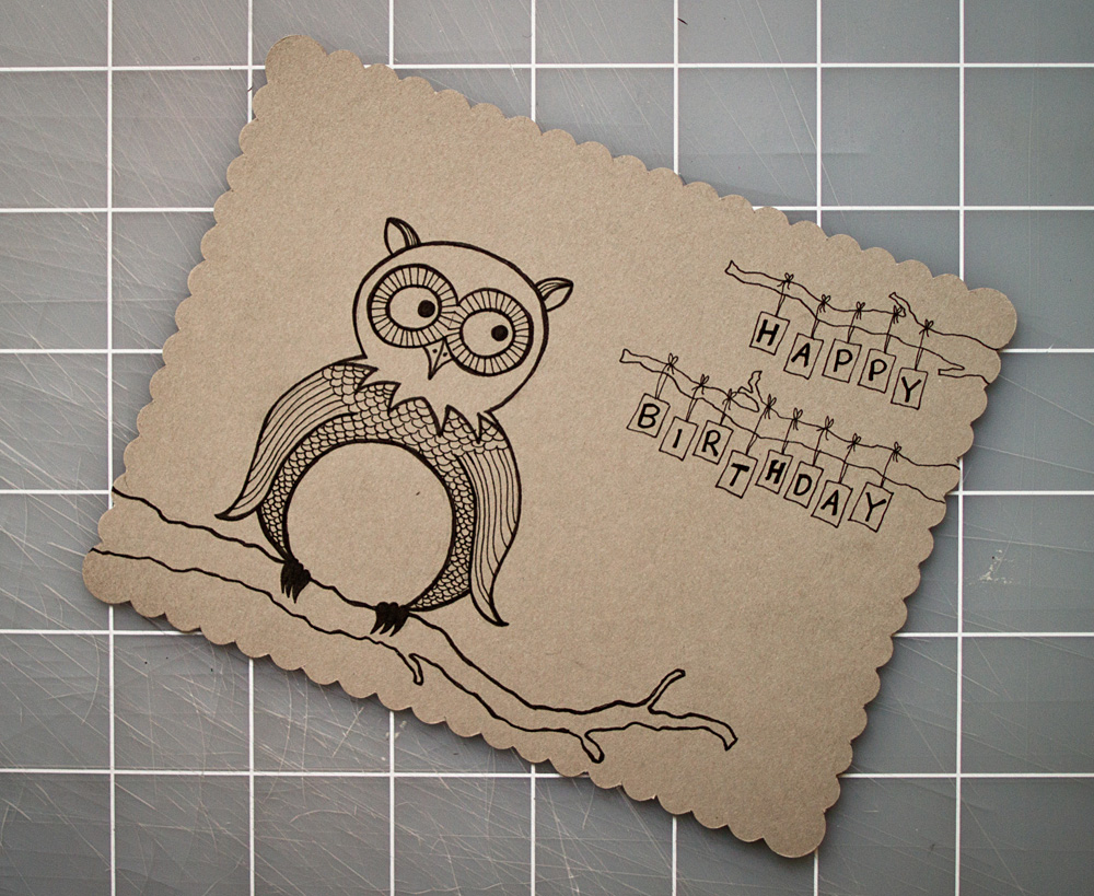 every.seven » doodle, Birthday card