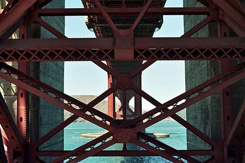 The Golden Gate Bridge, San Francisco, CA - Shot with the Olympus Om-2n on Kodak 400 Gold 35mm film